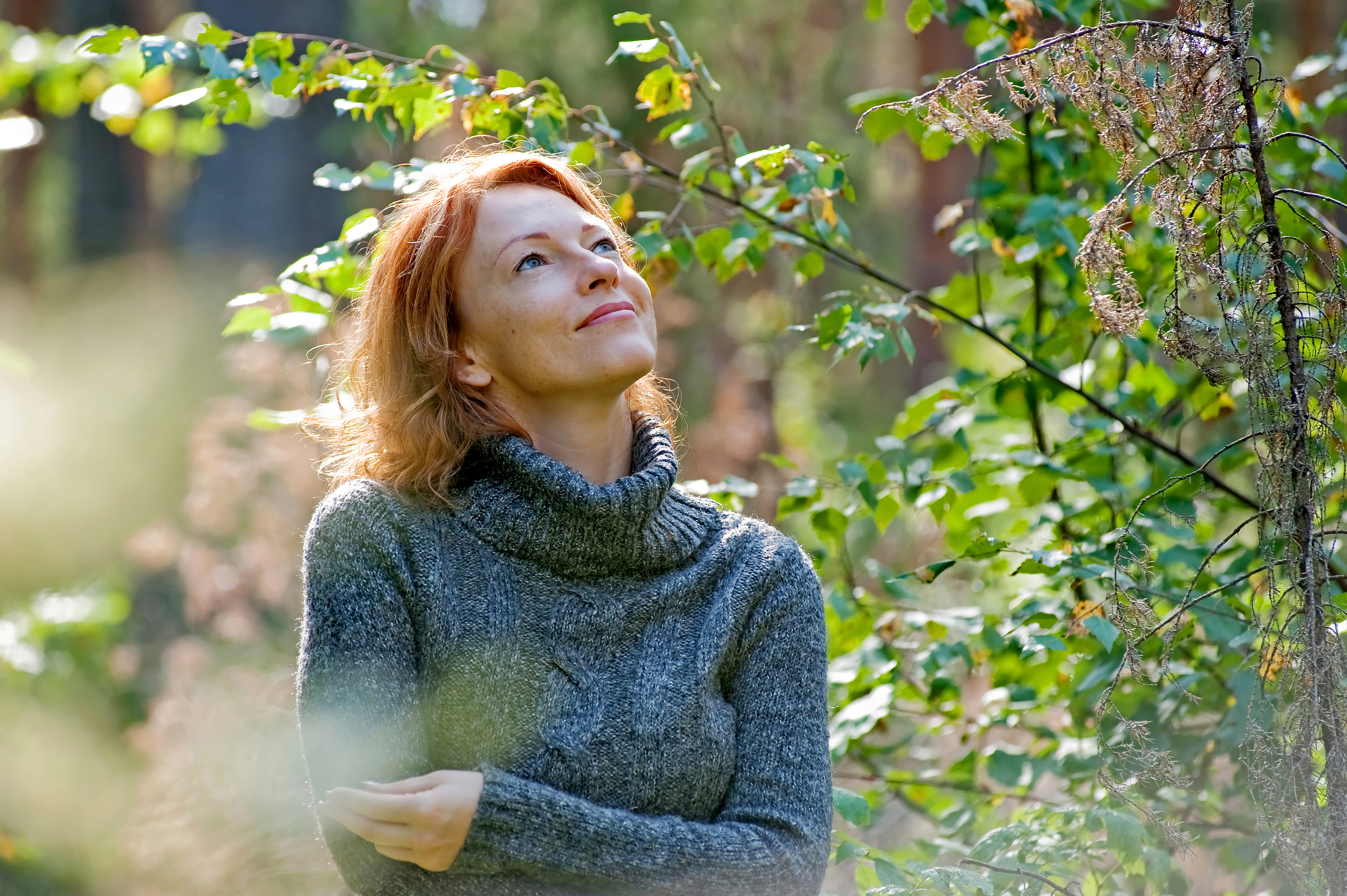 Portrait of woman in nature